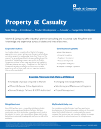 Property & Casualty Data Sheet